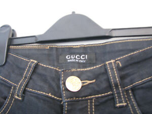 """GUCCI JEANS - BLACK - 27"""" WAIST - AS NEW"""