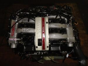 JDM NISSAN 300ZX VG30 TWIN TURBO ENGINE, ECU, WIRING     S