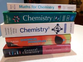 Chemistry university textbook bundle