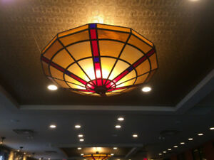 LARGE Stain Glass Light Fixtures