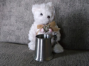 Pewter Baby Cup and New Teddy
