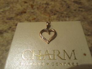 10K Rose Gold Heart necklace