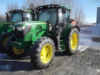 Two 105 horse 6105 Tractors available