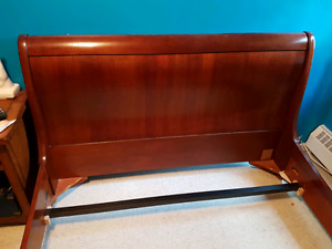 Beautiful REAL WOOD Queen bed frame Negotiable