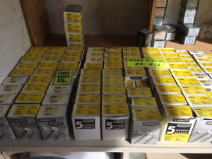 Stanley and Papco Assorted Screws Bolts etc.