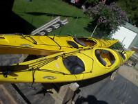 17ft Necky Elaho & 16.4 ft Eliza and all gear/skirts paddles pfd