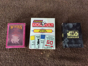 Card Games CCGS Star wars, Monopoly, Wyvern