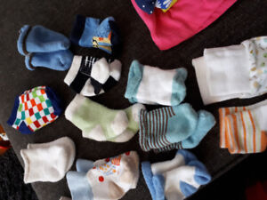 Baby boy socks and set of mittens