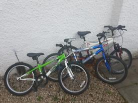 Kids Bikes x 3