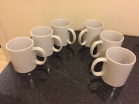 White mugs (set of 6)