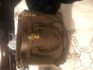 Michael Kors Large Saffiano Leather Tote Bag in Taupe
