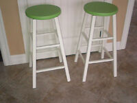 2 Wooden Stools
