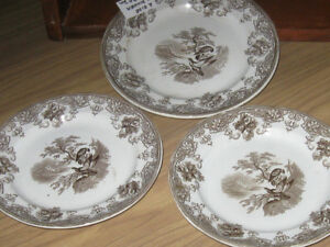 3-PC.GROUPING of OLD PEARL STONEWARE by WEDGEWOOD & CO.[Stamped]