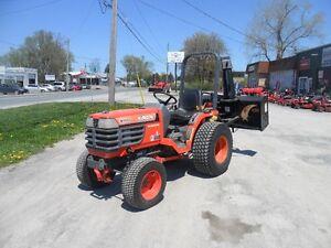 kubota b1700h compact tractor c/w mower deck
