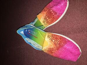 Bobs rainbow memory foam by skechers