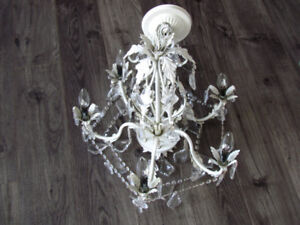 6-Light Candle-Style Chandelier in White