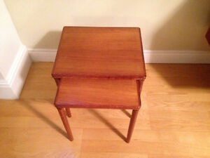 **Price reduced **Mid Century Set of two Teak Nesting Tables