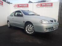 2002 02 RENAULT MEGANE COUPE 1.6 16V PRIVILEGE+.GREAT LOW MILEAGE EXAMPLE.2 KEYS