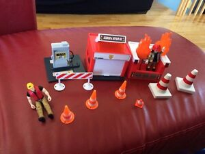 Fire station play set duplo