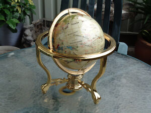 Beautiful Brass World Globe