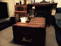 Beautiful antique vintage steamer trunk
