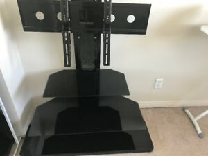 TV stand table- Black and brown glass