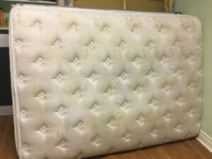 2yr old double pillowtop mattress and boxspring free delivery