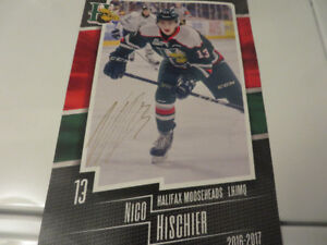 Halifax Mooseheads-Nico Hischier Autographed Poster-2016-17