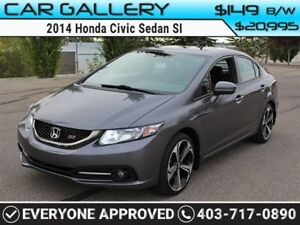 2014 Honda Civic Sedan SI w/Sunroof, Navi, BackUp Cam $149 B/W Y