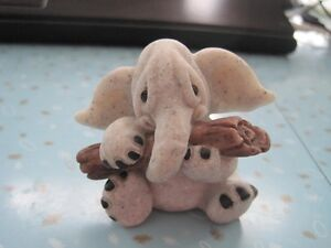 "2001 ""Ella"" the Elephant Quarry Critters Figure by Second Nature"