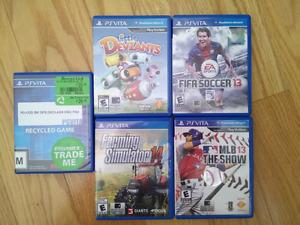 5 Vita Games for $10 each.