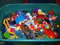 Huge tub filled with old McDonald's and Burger King Toys