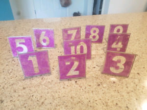 Table numbers for wedding etc