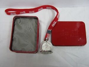 coca cola pocket watch with strap brand new comes in box