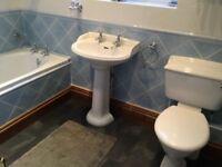 Basin, bath, toilet bathroom suite.