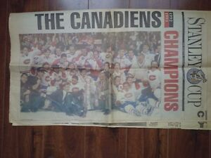 Canadiens Champions  - Gazette June 11, 1993 Stanley Cup Section