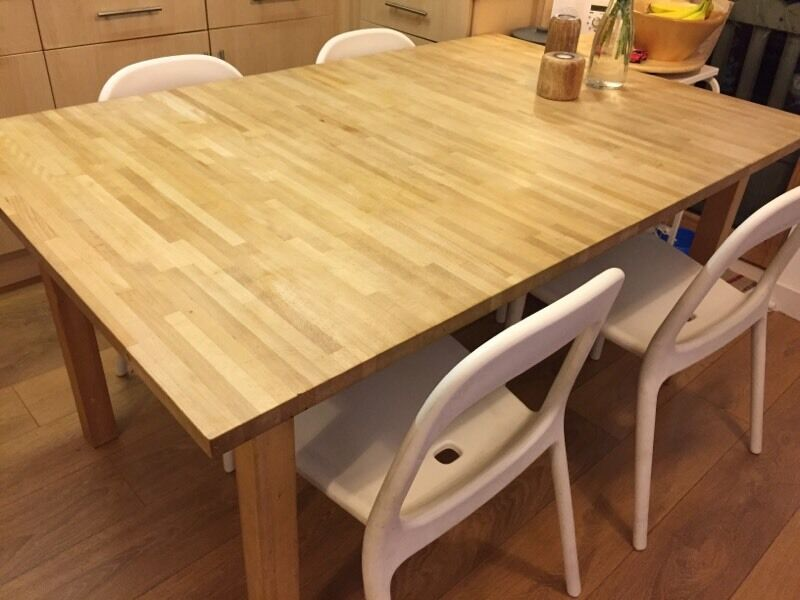 ikea bjorna solid wood dining table bargain in milton keynes