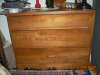 MAPLE DRAWER CHEST AND DESK