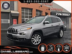 Jeep Cherokee 4X4 LIMITED V6 3.2L, CUIR, TOIT PANO, GPS ET +++ !
