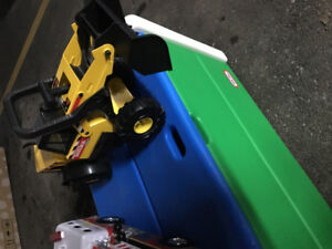 Tonka toys and Plastic Toy Box
