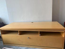 Beech wooden tv cabinet
