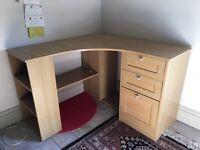 Child's corner desk