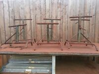 Six Adjustable Steel Pipe Stands