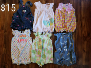 6-12m Baby girl summer and winter clothing