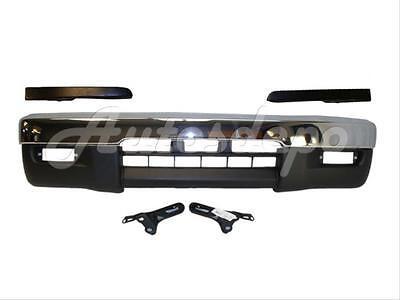 (Bundle For 1995-1997 Tacoma 4Wd Front Bumper Chr Bar Valance Filler Bracket 6Pcs)