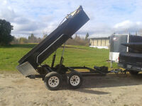 Dump trailer 6 x 10-1/2 tandem dual cylinder tarp brakes