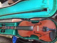 Full size violin with case and bow