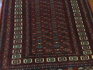 HAND KNOTTED ORIENTAL RUG 6.5 x 4.8
