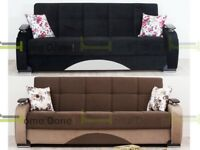 **14-DAY MONEY BACK GUARANTEE!** Zoltan Fabric Luxury Sofabed in Black Grey Brown Red!