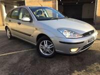 2002 02 FORD FOCUS 1.6 ZETEC 5D 99 BHP 12 MONTH MOT, 8 SERVICES